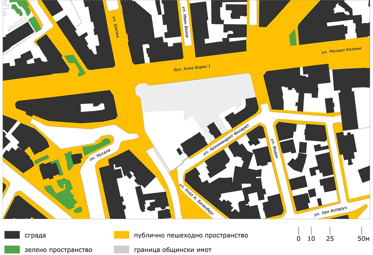 Обществени пешеходни пространства